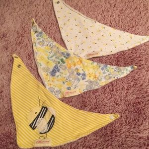 Spring-themed Baby Bibs (Set of 3)